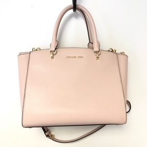Michael Kors Ellis Pink Handbag Purse Shoulder